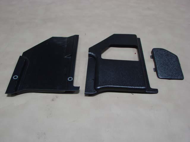 B02344D Kick Panels 63 Black For 1963 Ford Thunderbird (B02344D)