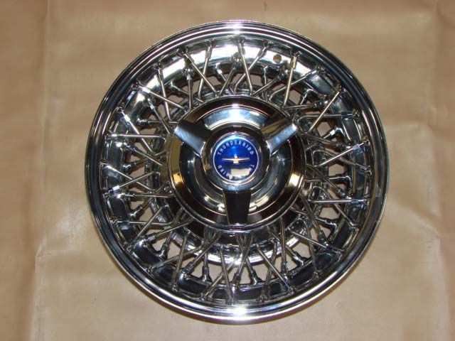 B 1015ABU Wire Wheel with Blue Center 14 Inch Tube Type For 1958-1959-1960-1961-1962-1963-1964 Ford Thunderbird (B1015ABU)
