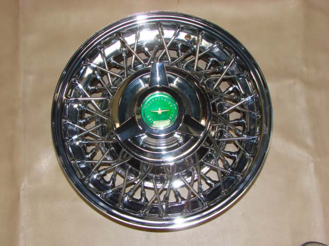 B 1015AGN Wire Wheel with Green Center 14 Inch Tube Type For 1958-1959-1960-1961-1962-1963-1964 Ford Thunderbird (B1015AGN)