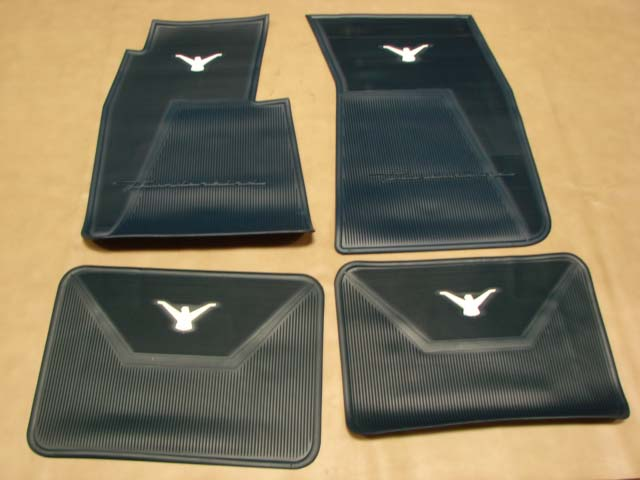 B 13106d Floor Mats Blue With White Bird For 1958 1959