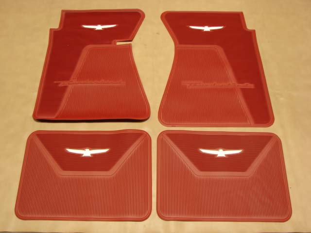 B 13106H Floor Mats Red with White Bird For 1961-1962-1963 Ford Thunderbird (B13106H)