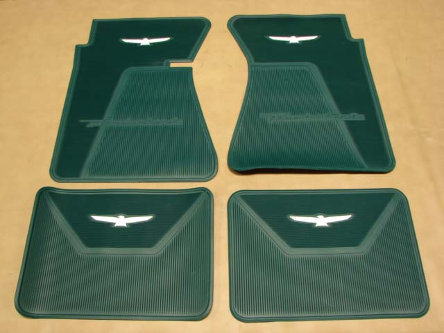 B 13106J Floor Mats Turquoise with White Bird For 1961-1962-1963 Ford Thunderbird (B13106J)