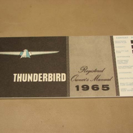 blt sm shop manual  thunderbird   ford