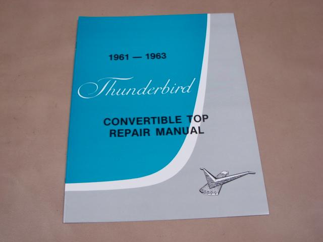 Blt Tr61 Convertible Top Repair Manual For 1961