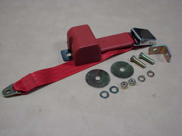 BSB RTRD Seat Belt 64/66, Red, Retractable For 1964-1965-1966 Ford Thunderbird (BSBRTRD)