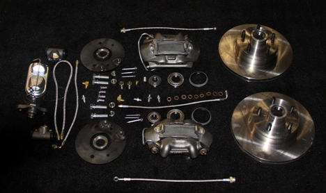 T 2123f Disc Brake Kit With Power For 1957 Ford