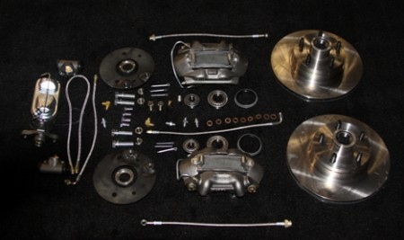 T 2123d Disc Brake Kit With Power For 1956 Ford