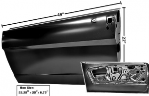 M 20125A Door Shell Left Hand For 1965-1966 Ford Mustang (M20125A)