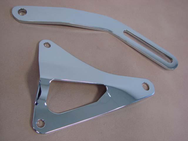 M 10156B Alternator Bracket Set SB Chrome For 1965-1966-1967-1968-1969-1970-1971-1972-1973 Ford Mustang (M10156B)