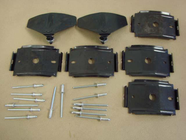 M 10182E Rocker Moulding Clip Set For 1965-1966 Ford Mustang (M10182E)