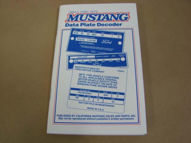 Mlt 14 Data Plate Decoder For 1965