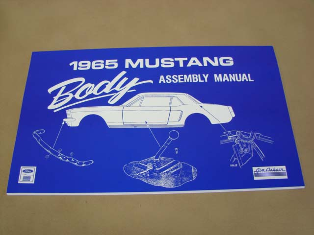MLT AM06 Body Assembly Manual 65 For 1965 Ford Mustang (MLTAM06)