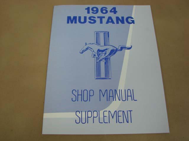 MLT SM64 Shop Manual Supplement Update For 1964 Ford Mustang (MLTSM64)