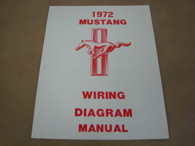 Mlt Wd72 Wiring Diagram For 1972 Ford Mustang  Mltwd72
