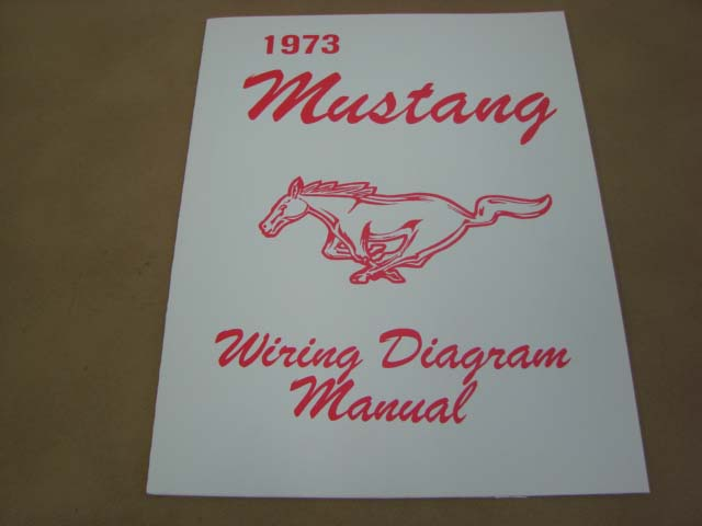 MLT WD73 Wiring Diagram For 1973 Ford Mustang (MLTWD73 ...