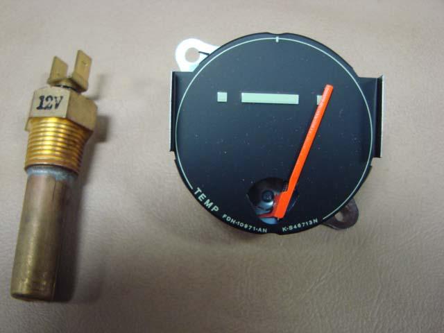 T 10885bk Temperature Gauge  U0026 Sender Kit 12v For 1956 Ford