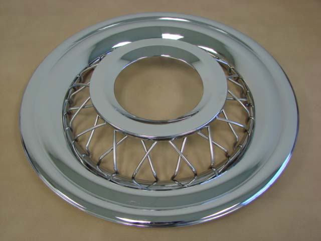 T 1130c Wire Wheel Cover For 1955 1956 Ford Thunderbird