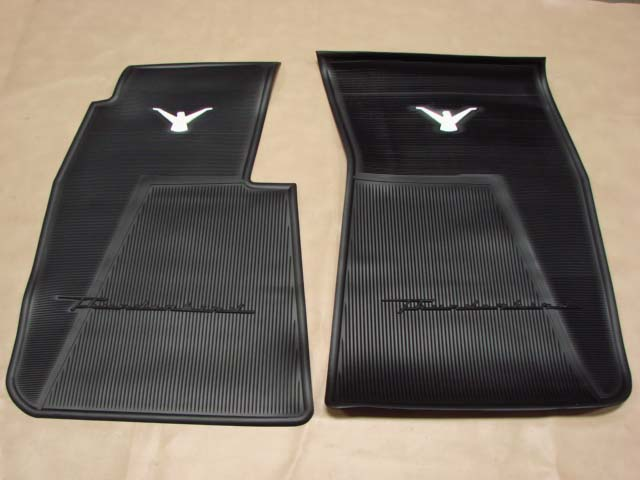 T 13106a Rubber Floor Mats Black For 1955 1956 1957 Ford