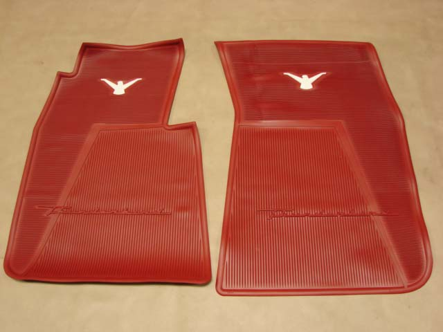 T 13106C Rubber Floor Mats Red For 1955-1956-1957 Ford Thunderbird (T13106C)