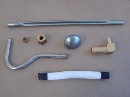T 9891bks Choke Heat Tube Insulator Kit Stainless For 1957