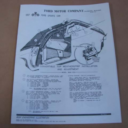 1955-1957 Ford Thunderbird Literature and Manuals Archives - Larry's