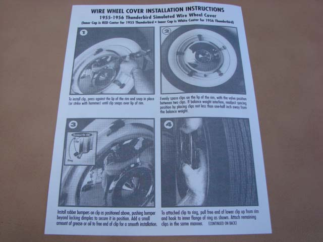 tlt 2 wire wheel cover instructions for 1955-1956 ford thunderbird (tlt2)