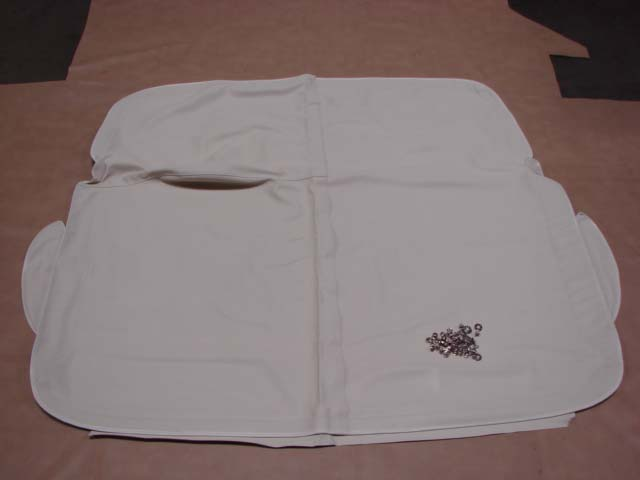 TSC 57WTL Seat Cover White Leather For 1957 Ford Thunderbird (TSC57WTL)