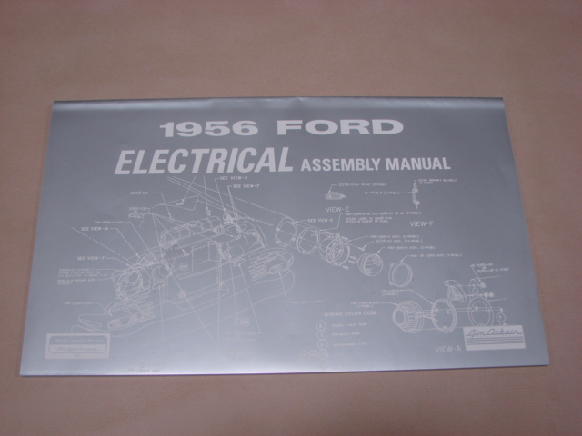 PLT AM181 Electrical Assembly Manual For 1956 Ford Passenger Cars (PLTAM181)